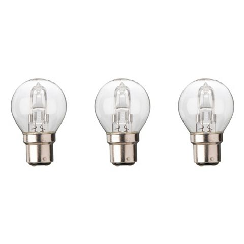Diall Bayonet Cap (B22) 30W Halogen Mini Globe Light Bulb, Pack of 3