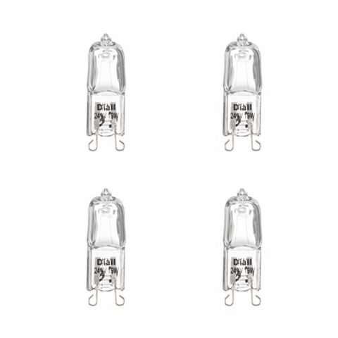 Diall G9 19W Halogen Capsule Light Bulb, Pack of 4