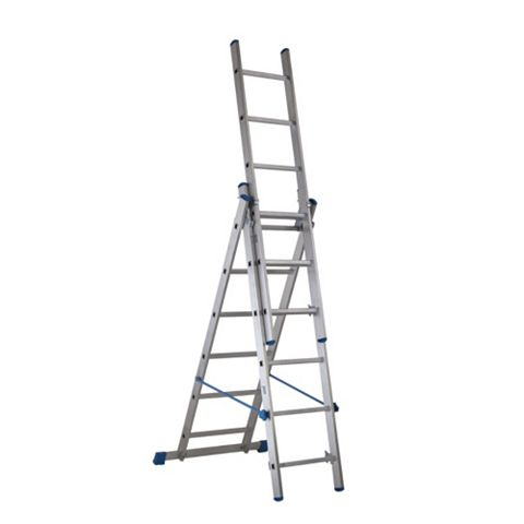 Mac Allister Aluminium-Way 4 In 1 Ladder, (H)3.21M