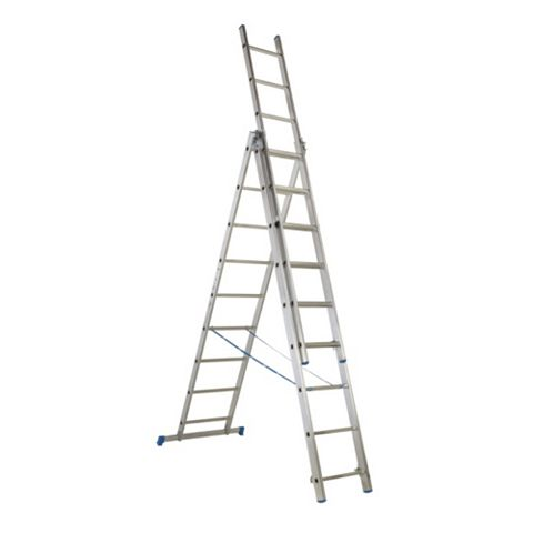 Mac Allister Aluminium 3-Way Trade Combination Ladder, (H)5.4M
