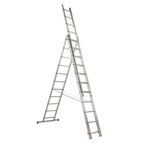 Mac Allister Aluminium 3-Way Trade Combination Ladder, (H)6.5M