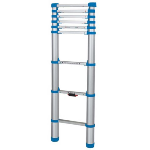 Mac Allister Aluminium & Plastic-Way Telescopic Telescopic Ladder, (H)2.6M