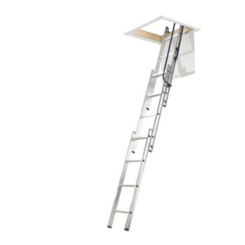 Mac Allister 3 Section Sliding Extension Loft Ladder, 3M