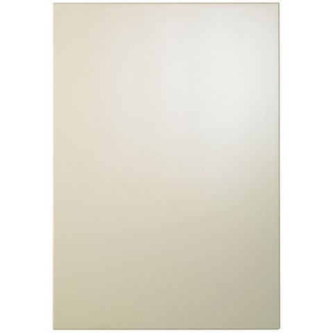 Cooke & Lewis Raffello High Gloss Cream Standard Door (W)500mm