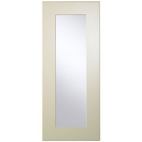 Cooke & Lewis Raffello High Gloss Cream Slab Glazed Door (W)300mm