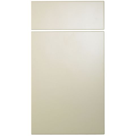 Cooke & Lewis Raffello High Gloss Cream Slab Drawer Line Door & Drawer Front (W)400mm, Set of 1 Door & 1 Drawer Pack
