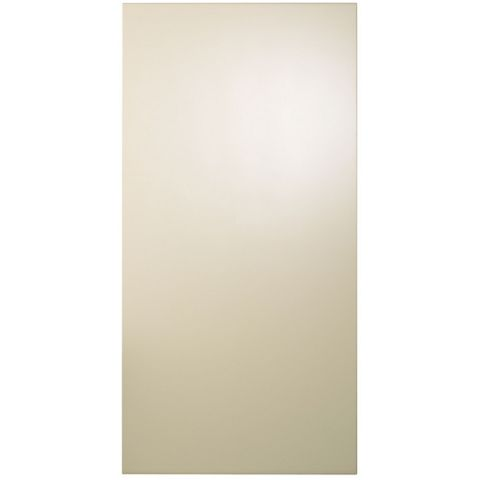 Cooke & Lewis Raffello High Gloss Cream Fridge Freezer Door (W)600mm