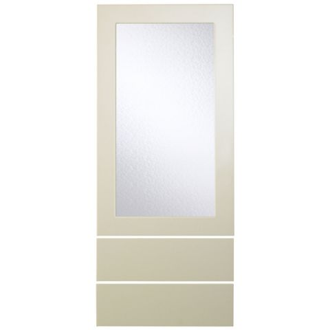 Cooke & Lewis Raffello High Gloss Cream Slab Dresser Door & Drawer Front (W)500mm, Set of 3