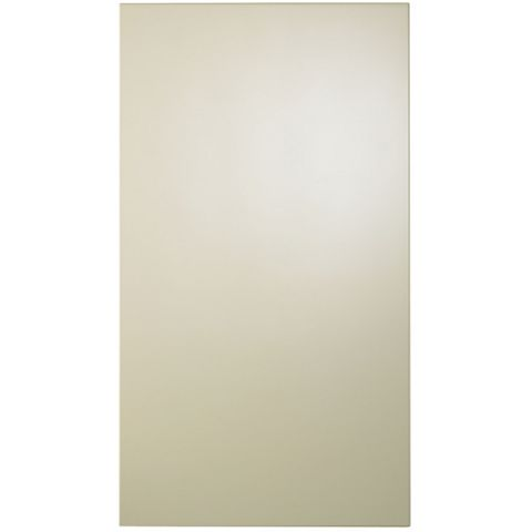 Cooke & Lewis Raffello High Gloss Cream Slab Tall Standard Door (W)500mm