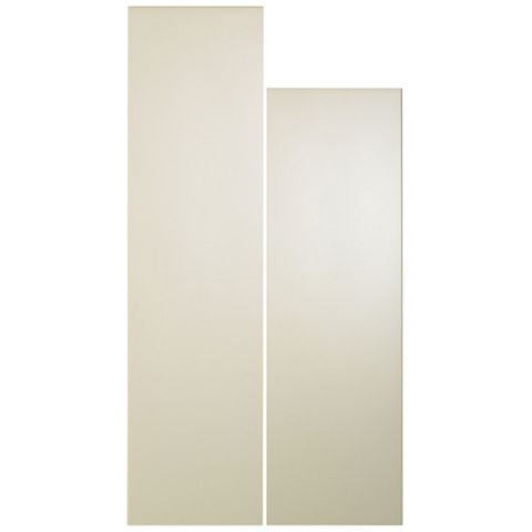 Cooke & Lewis Raffello High Gloss Cream Tall Larder Door (W)300mm, Set of 2