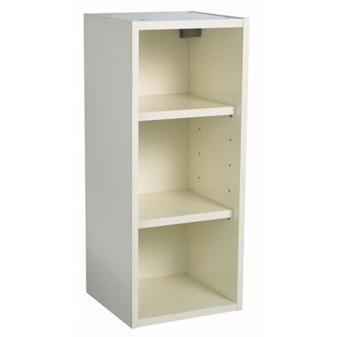 IT Kitchens Cream Gloss Open Wall Cabinet (W)300mm