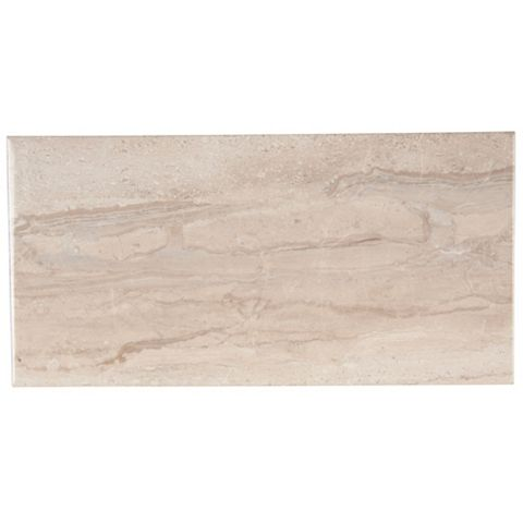 Bali Grey Ceramic Wall Tile, Pack of 8, (L)500mm (W)250mm