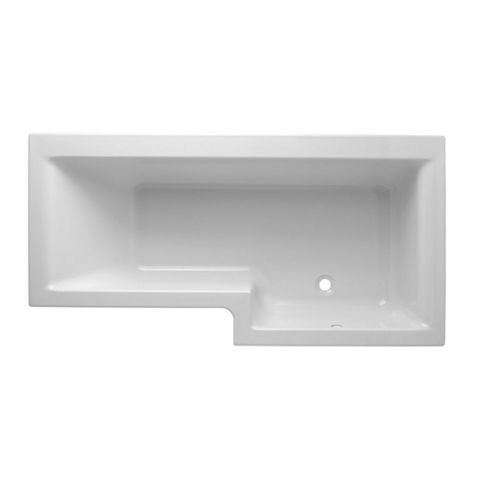 Cooke & Lewis Adelphi RH Acrylic L Shaped Shower Bath (L)1675mm (W)850mm