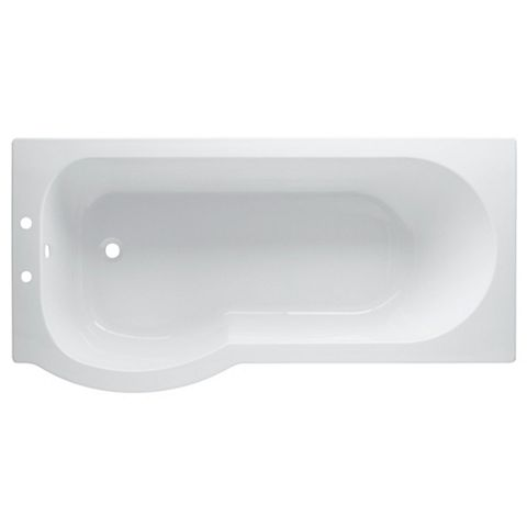 Cooke & Lewis Adelphi LH Acrylic Curved Shower Bath (L)1675mm (W)850mm