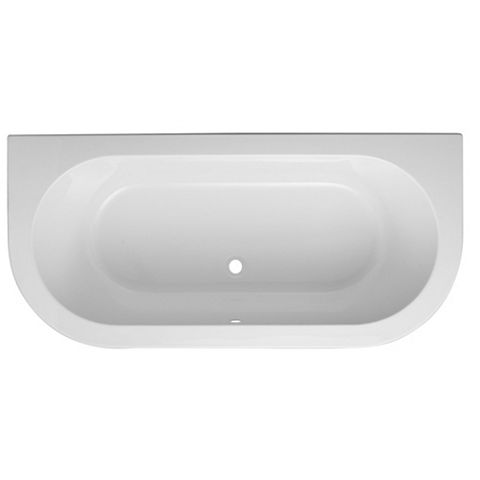 Cooke & Lewis Helena Acrylic Oval Twin Ended Bath (L)1700mm (W)800mm