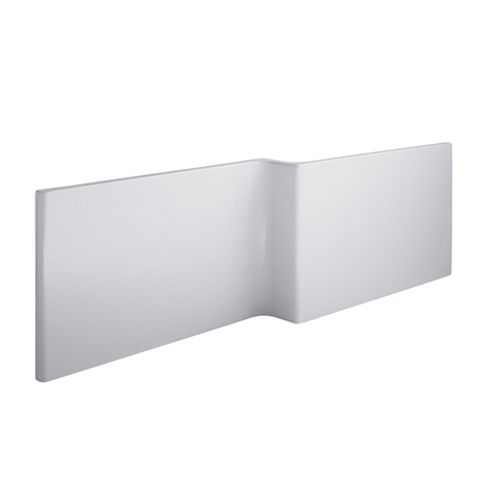 Cooke & Lewis Adelphi White White Bath Front Panel (W)1675mm