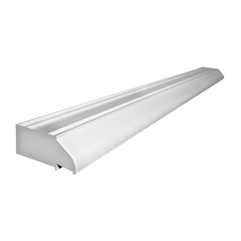 White PVCu Overhead Ventilator (H)44mm