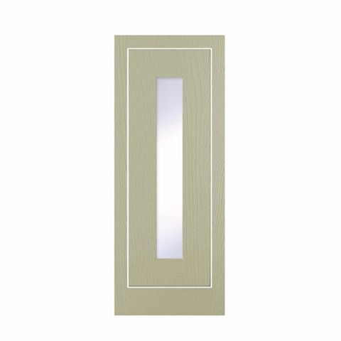 Cooke & Lewis Carisbrooke Taupe Framed Tall Glazed Door (W)300mm
