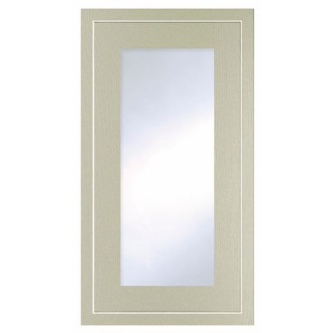 Cooke & Lewis Carisbrooke Taupe Framed Tall Glazed Door (W)500mm
