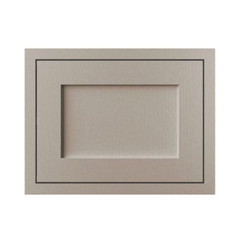 Cooke & Lewis Carisbrooke Taupe Framed Fixed Frame Integrated Extractor Fan Door (W)600mm