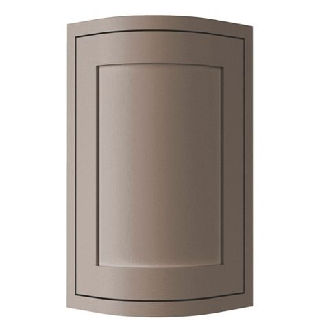 Cooke & Lewis Carisbrooke Taupe Framed Wall External Curved Door
