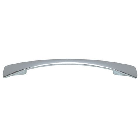 Cooke & Lewis Polished Chrome Effect Curved Cabinet Handle, Pack of 2