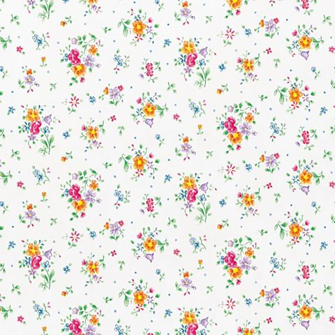 D-C-Fix Floral Pint Multicolour Self Adhesive Film (L)2m (W)45cm