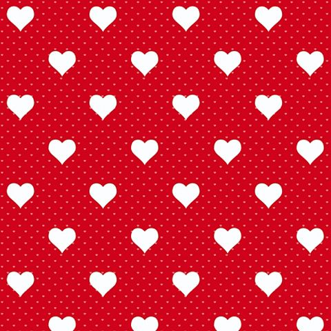 D-C-Fix Heart Red Self Adhesive Film (L)2m (W)45cm