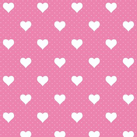 D-C-Fix Heart Pink Self Adhesive Film (L)2m (W)45cm