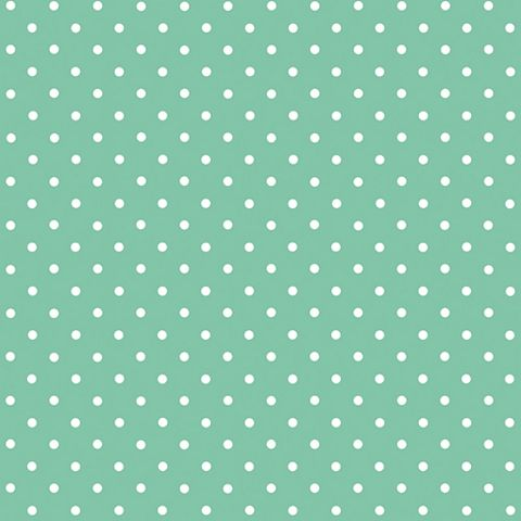 D-C-Fix Polka Dot Mint Green Self Adhesive Film (L)2m (W)45cm
