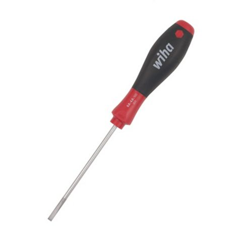 Wiha Soft Finish Slotted Screwdriver 4mm x 100mm