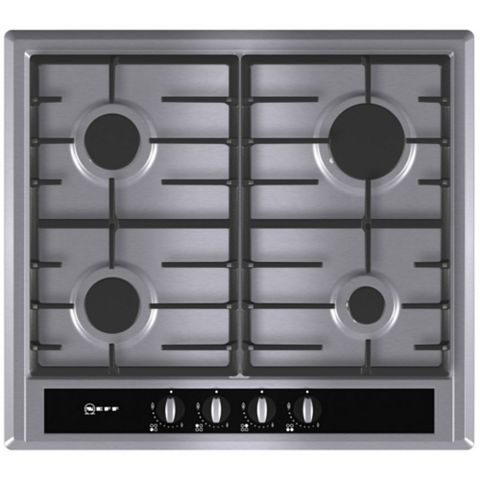 Neff T23S36N0GB 4 Burner Stainless Steel Gas Hob