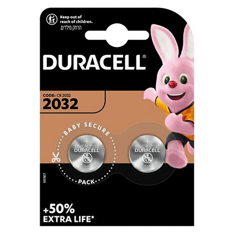 Duracell CR2032 Batteries 3V, Pack of 2