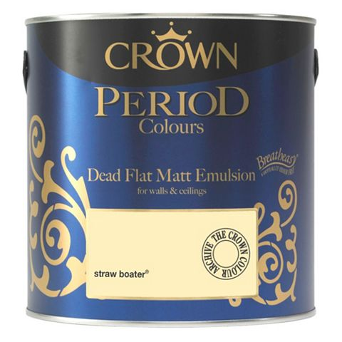 Crown Emulsion Paint Straw Boater, 2.5L