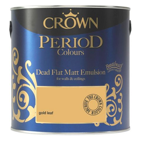 Crown Emulsion Paint Gold Leaf, 2.5L