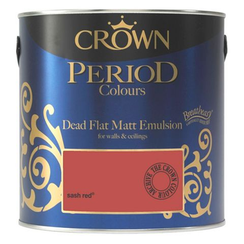 Crown Emulsion Paint Sash Red, 2.5L