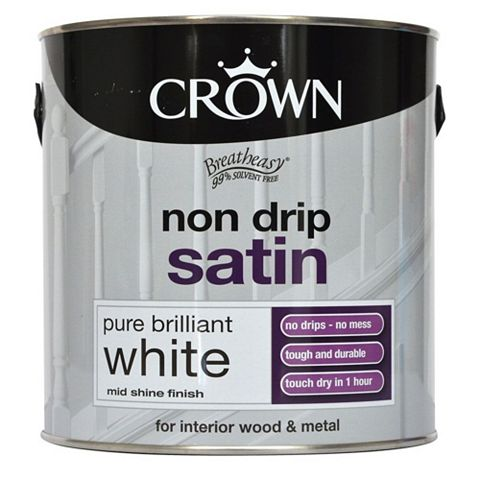 Crown Breatheasy® Interior Pure Brilliant White Satin Paint 2.5L