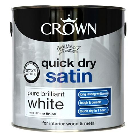 Crown Breatheasy® Pure Brilliant White Satin Emulsion Paint 2.5L