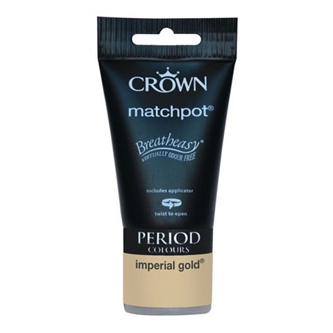 Crown Emulsion Paint Imperial Gold, 40ml Tester Pot