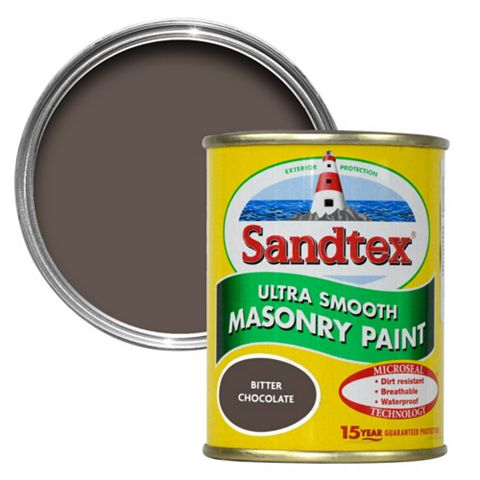 Sandtex Bitter Chocolate Brown Smooth Masonry Paint 150ml Tester Pot