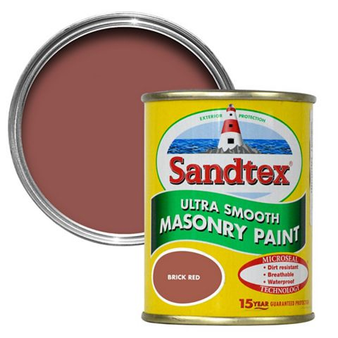 Sandtex Brick Red Smooth Masonry Paint 150ml Tester Pot