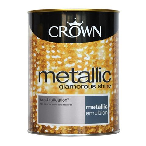 Crown Metallic Effect Emulsion Paint Sophistication, 1.25L
