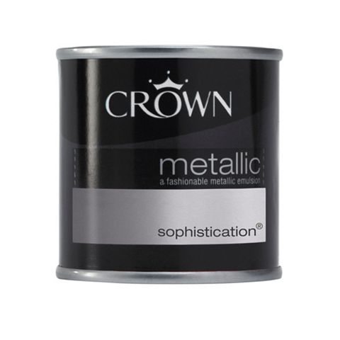 Crown Metallic Effect Emulsion Paint Sophistication, 125ml Tester Pot