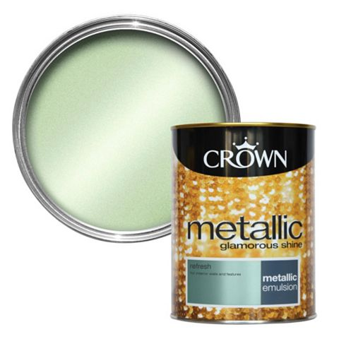 Crown Refresh Metallic Emulsion Paint 1.25L