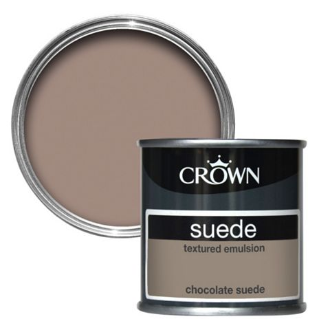 Crown Choc Suede Matt Emulsion Paint 125ml Tester Pot