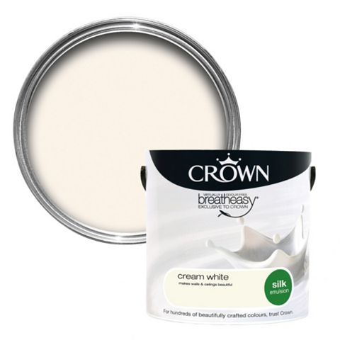 Crown Breatheasy® Cream White Silk Emulsion Paint 2.5L