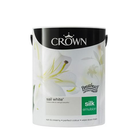 Crown Breatheasy® Sail White Silk Emulsion Paint 5L