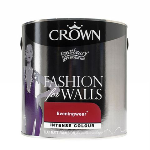 Crown Fashion For Walls® Dark Elegance Eveningwear Flat Matt Emulsion Paint 2.5L