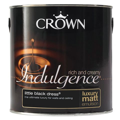 Crown Indulgence Black Dress Matt Emulsion Paint 2.5L