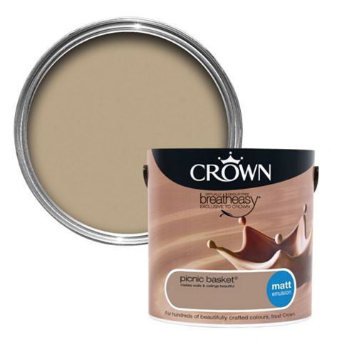 Crown Neutrals Picnic Basket Matt Emulsion Paint 2.5L